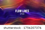 flow lines vector array. wave... | Shutterstock .eps vector #1756207376