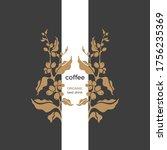 Vector Coffee Plant. Art Frame  ...