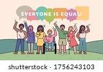poster about human diversity...   Shutterstock .eps vector #1756243103