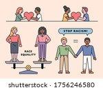 stop racism. people of various...   Shutterstock .eps vector #1756246580