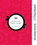 poster template vector...   Shutterstock .eps vector #175624664