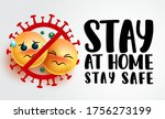 stay at home vector sign banner....   Shutterstock .eps vector #1756273199