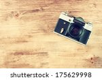 Vintage Old Camera On Brown...