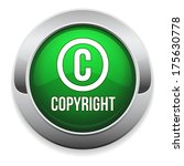 Green Round Copyright Button...