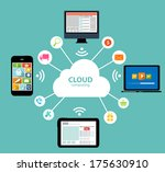 cloud computing concept on... | Shutterstock .eps vector #175630910
