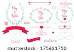 set of wedding graphic elements ... | Shutterstock . vector #175631750