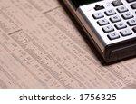 calculator on stock prices | Shutterstock . vector #1756325
