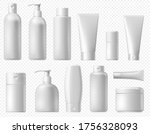 cosmetic package. white shampoo ... | Shutterstock .eps vector #1756328093