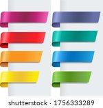 silk colorful ribbons set white ... | Shutterstock .eps vector #1756333289