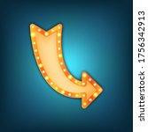 arrow marquee vector sign....   Shutterstock .eps vector #1756342913