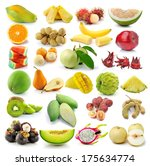 fruit  isolated on white... | Shutterstock . vector #175634774
