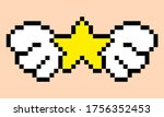 star pattern with wing. pixel...
