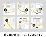 editable template post for... | Shutterstock .eps vector #1756352456