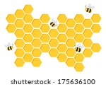 art,backdrop,bee,beehive,beeswax,brochure,card,cartoon,cell,comb,craft,detail,element,gold,group