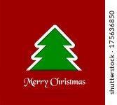 christmas tree | Shutterstock . vector #175636850