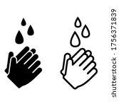 hand washing vector icon. hands ... | Shutterstock .eps vector #1756371839
