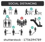 covid 19 social distancing... | Shutterstock .eps vector #1756394789