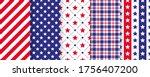 patriotic seamless pattern. 4th ... | Shutterstock .eps vector #1756407200
