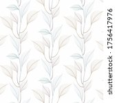linear leaves vector pattern ... | Shutterstock .eps vector #1756417976
