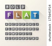 bold flat font and numbers in... | Shutterstock .eps vector #175641914