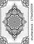 stylized with henna tattoo...   Shutterstock .eps vector #1756420559