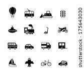 transportation pictograms... | Shutterstock .eps vector #175643030