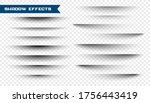 set of paper shadow effect on... | Shutterstock .eps vector #1756443419