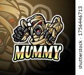 mummy esport logo mascot design | Shutterstock .eps vector #1756446713