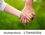 mother holding daughter's hand... | Shutterstock . vector #1756460306