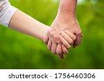 mother holding daughter's hand... | Shutterstock . vector #1756460306