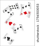 Casino Playing Cards. Pattern...