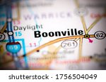Boonville. Indiana. USA on a geography map