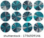 turquoise black radial metallic ...