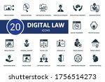 digital law icon set.... | Shutterstock .eps vector #1756514273