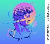metarealistic bust david retro...   Shutterstock .eps vector #1756526513