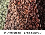 A Collage Of Coffee Beans...