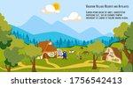 people on village vacation... | Shutterstock .eps vector #1756542413