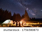 Night Summer Camping In The...