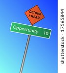 opportunity 10 miles  km  ahead ... | Shutterstock .eps vector #17565844