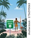 Summer Beach Banner Open Surfer ...