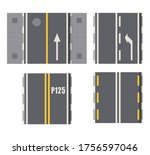 set of seamless road marking on ...   Shutterstock .eps vector #1756597046