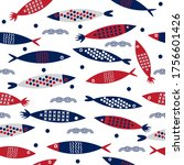 Seamless Pattern Fish With...