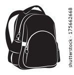 backpack on white background | Shutterstock .eps vector #175662668