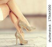 legs and street  | Shutterstock . vector #175664300