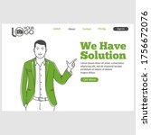 we have solution landing page...