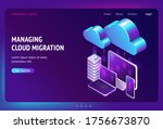 digital data migration... | Shutterstock .eps vector #1756673870