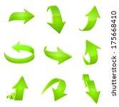 arrow icon set. vector   Shutterstock .eps vector #175668410