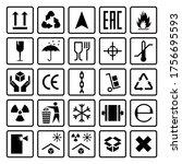packaging symbols. shipping...   Shutterstock .eps vector #1756695593