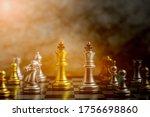 golden king chess standing...   Shutterstock . vector #1756698860