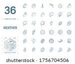 isometric line art icon set.... | Shutterstock .eps vector #1756704506